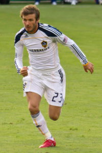 David Beckham in action playing for LA Galaxy