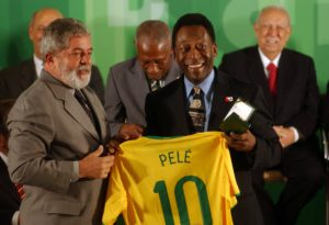 Pele with jersey number 10