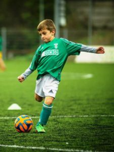 A young soccer player