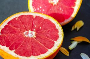 Benefits Of Citrus Fruits - 2 slices of grapefruit