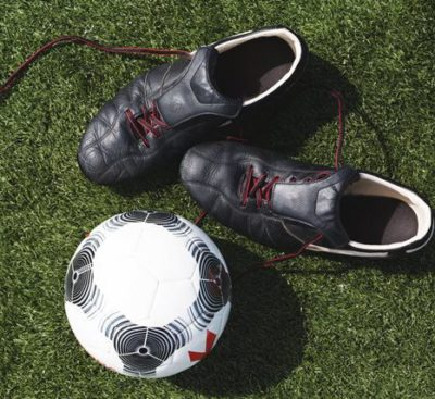 Soccer Shoes And Ball