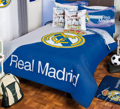 Soccer Themed Bedding - Comforter Spain Real Madrid Set 5 Piece Twin