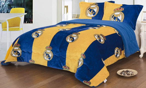 Soccer Themed Bedding - Real Madrid Twin Blanket Set