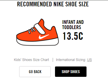 Nike Recommended Size