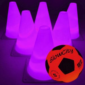 GlowCity Light-Up Soccer Ball and Cones