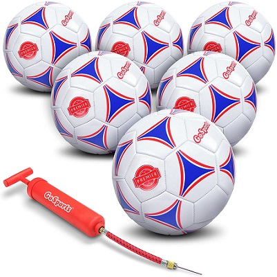 kids soccer training kit - GoSports Premier Soccer Ball with Premium Pump