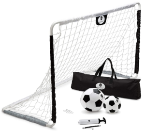 kids soccer training kit - morvat portable goal set