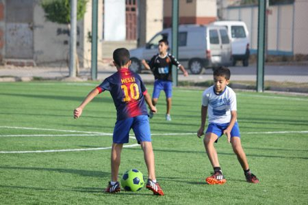 What Is The Striker Position In Soccer - A boy ready to strike the ball