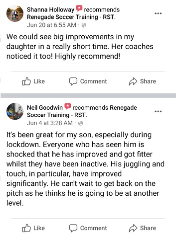 Renegade Soccer Training Review - customer testimonial