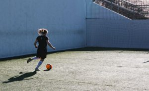 Soccer Wall Passing Drills - kick against the wall