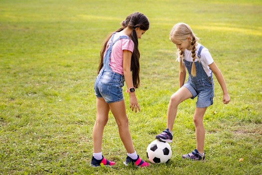 What Is The 1000 Soccer Touches - 2 girls playing soccer