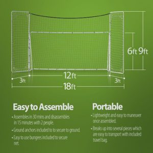 ANYTHING SPORTS 3 in 1 Soccer Goal