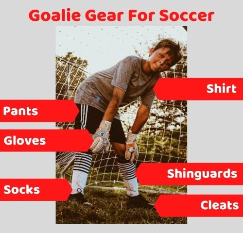 Goalie gear for soccer
