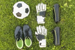 Soccer Goalie Gear With Ball