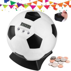 Lefree Soccer Shape Piggy Bank with Automatic LCD Display