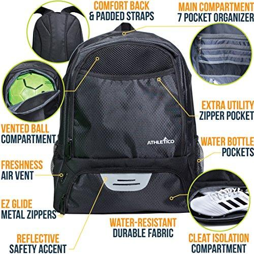 athletico youth soccer backpack features