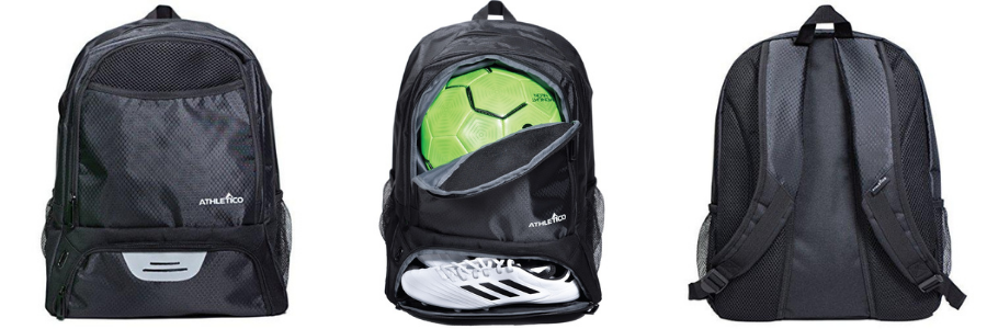 Athletico youth soccer bag display