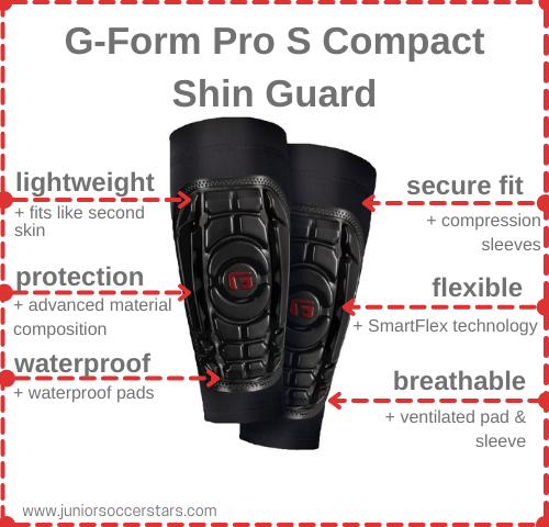 G-Form Pro S Compact Shin Guard features